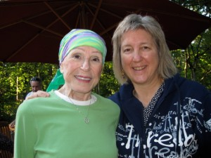Climb to Fight Breast Cancer committee member Karen Kilian, with her mother, Mary Jo Kilian
