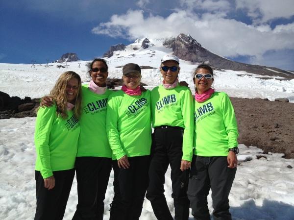 Five Survivors are part of an 18 member team ascending Mt. Hood (11,237 ft).