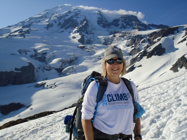 Adventurist, Nurse Practioner, Philanthropist and Blogger Karen Kilian trains for her Mt. Rainier summit climb.