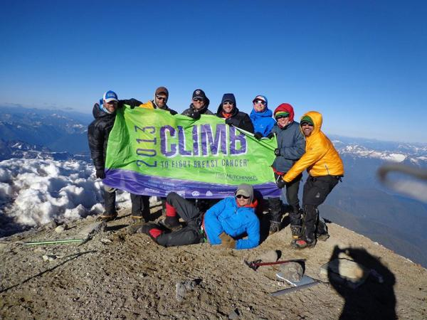 The Squak Glacier team on the summit.
