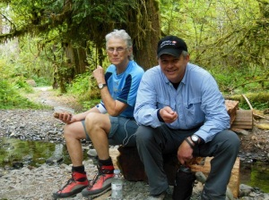 Lynn Lippert and Safeway's Bob Reorda. Photo by Colin Stapp.