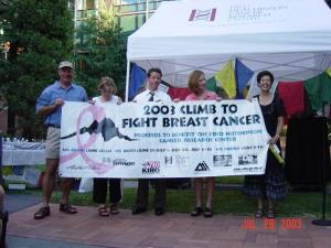 The first Fred Hutch Kilimanjaro team, August 2003.