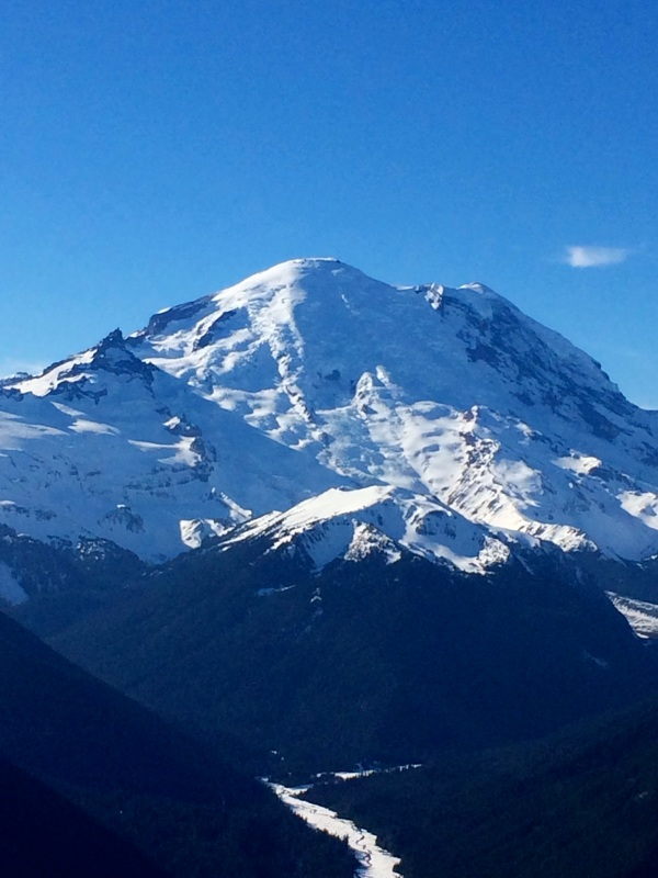 Mt. Rainier today. 7.000 ft viewpoint. Taken with iPhone 5s.