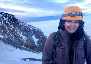 Kari Darnell during a recent climb on Mount Hood in Oregon. Photo courtesy of Kari Darnell