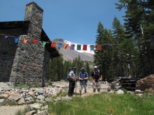 Historic Shasta Alpine Lodge at Horse Camp (7,884 ft).