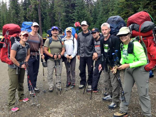 Day 1 for the Mt. Baker team. Photo courtesy of John Rodarte.